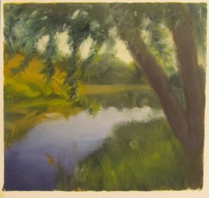 Saugeen River study on Arches oil paper